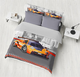 2019 постельное белье Car Sports Car Pinted 3D  Duvet Cover Set Bedding set for Adults Kids Twin Full Queen King Size дешево постельное белье