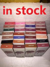 Cor de lábio líquido on-line-KYLIE Lip Gloss KIT LIP Kylie Matte Batom Líquido Lip Liner Kit 42 Preço de Promoção de Cor