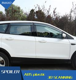 ford kuga escape Sconti Per Ford Escape Kuga Plastic Window Visor Vent Shades Sun Rain Deflector Guard Per Kuga Accessori Auto 4PCS / SET 2013-2017