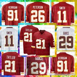 Top Sale 11 Alex Smith Washington Redskins Jersey 29 Derrius Guice 21 Sean  Taylor 86 Reed 8 Kirk Cousins 91 Ryan Kerrigan Football Jerseys 5faf9ad9e