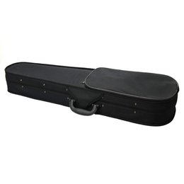 2019 cordas de violino Full Size Oxford Violino Hard Case Profissional Triangular Forma Violino Caso para Iniciantes Estudantes Preto