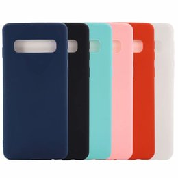 Argentina Funda de TPU suave para Galaxy S10 Lite Note9 S9 Iphone XS MAX XR X 8 7 6 6S 5 Funda de silicona lisa mate Funda de teléfono celular colorida Carcasa trasera de lujo Suministro