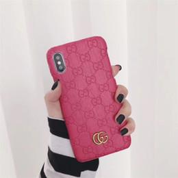 caso della lana di iphone Sconti Custodia per telefono di lusso One Piece per iPhone 6S 7 8 P X XS impronta di moda marchio in metallo Cover posteriore per telefono di design Per regali