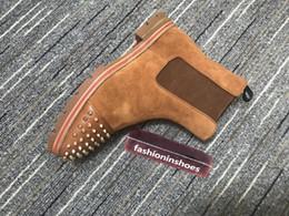 2019 старинные мужские ботильоны красные днища дыни марочных мужчин сапог Канье мартин мотоцикл GZ ботинки лодыжки для мужчин Chaussures красной подошв обуви куб.сма шипы deisigner обувь ботинок дешево старинные мужские ботильоны
