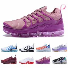 2019 zapatos corrientes baratos de la muchacha 2019 Zapatillas deportivas TN Plus para mujer, blancas, rosa, púrpura, niña, uva, para mujer, deportes al aire libre, zapatillas deportivas, zapatillas 36-40 zapatos corrientes baratos de la muchacha baratos