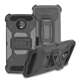 rugged cases belt clip Promo Codes - Tough Armor Defender Rugged Case for Motorola Moto G7 Power Z3 Play X5 G6 E5 Cruise Supra Shockproof Cover Belt Clip Kickstand