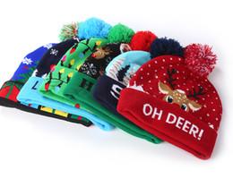 cappelli pupazzo di neve per i bambini Sconti 16 LED Halloween di Natale cappelli lavorati a maglia per bambini per bambini Moms caldi di inverno Berretti Cappelli Crochet a pupazzi di neve Festa della zucca del partito del regalo arredamento props1