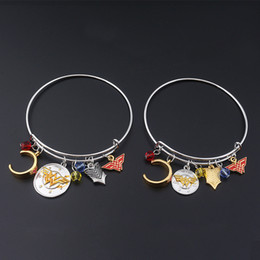 pergunto encantos mulher Desconto Mulher maravilha pulseiras Bangle Cuff Wristbans ajustável com Wonder Woman Badge headband encantos moda jóias para mulheres DROP SHIP