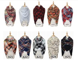womens checked scarf Coupons - Womens Oversized Tartan Plaid Blanket Scarf Large Checked Wrap Shawl Winter Warm Plaid Blanket Scarf Women Tartan Tassels Scarf KKA2768