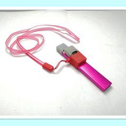 Clip per cordino collana cordino collo catena tracolla antipolvere custodia in silicone custodia in pelle per batteria coco jul e cartuccia baccelli da