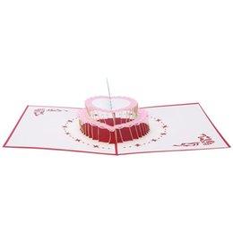 Всплывающая карта торта онлайн-Papercraft Pop-Up 3D торт ко дню рождения и открытки