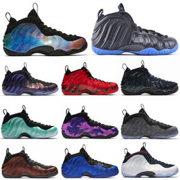 nike air foamposite one Zerstörte Penny Hardaway BasketballschuhluftFoampositeein Fleece Aubergine Alternative Galaxy KNICK Herren Turnschuhe Sport