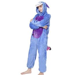pigiami lungo panda Sconti 2019 pigiama animale tutina Kigurumi Panda caldo flanella pigiama unisex Cosplay Kigurumi donna inverno manica lunga adulto pigiameria