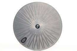 Oem rodas de carbono on-line-Roda de fibra de carbono Toray 700c roda de disco disco de carbono rodas traseiras tubular para estrada / pista TT bicicleta OEM clincher carbono ciclismo rodado
