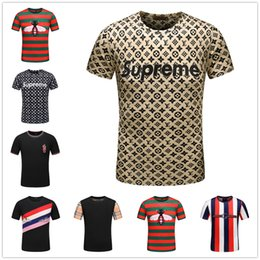 Mezcle 22 modelos de algodón masculino de moda o-cuello camiseta Cristiano Ronaldo camiseta de los hombres de lujo de manga corta fresca grande desde fabricantes