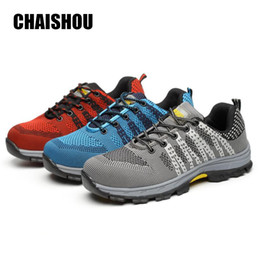 db3099ee54bf fly boots shoes 2019 - CHAISHOU men woman shoes Work shoes outdoor Steel  Toe Flying mesh Find Similar