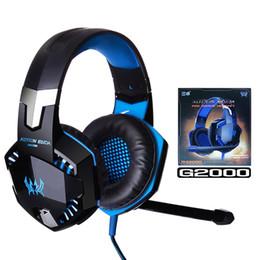 fones de ouvido de jogo surround Desconto Gaming Headset G2000 Over-Ear Headphones Gaming Surround Redução de Ruído estéreo com microfone Luz LED para Nintendo Mudar Jogo PC na Caixa