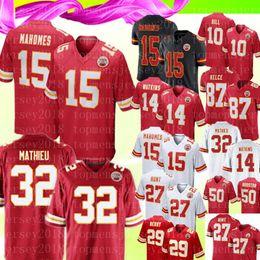 87 jersey online-15 Patrick Mahomes Kansas City 32 Tyrann Mathieu Chiefs Jersey 10 Tyreek Hill 14 Sammy Watkins 87 Travis Kelce 50 Justin Houston Fútbol