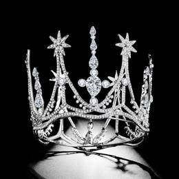 corona piena circolare piena Sconti Woodqiqi Round Crown Crown Full Circle Pearl Crown Studio Wedding Copricapo da sposa per le spose