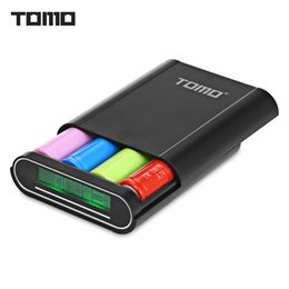 Tomo do banco de energia on-line-TOMO T4 DIY Inteligente Power Bank 4 x 18650 Li-ion Bateria Micro USB de 8 Pinos Dupla Entrada / Saída Carregador