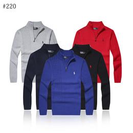 Suéter polo caliente online-Hombres suéteres, suéteres, suéteres, cuello en v, movimiento de polo, estilos variados, lana de punto, primavera y otoño cálidos.