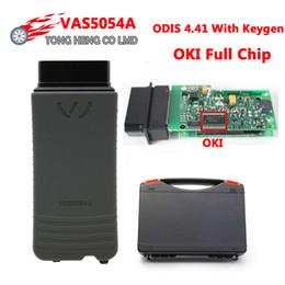 Oki chips on-line-Mais novo ODIS 4,41 VAS 5054A com OKI Chips VAS5054 Bluetooth VAS5054A 5054 Suporte Protocolo UDS caixa De Plástico