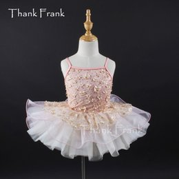 tutu dresses adults Coupons - Embroidered Camisole Ballet Tutu Dress Girls Adult Dance Costume Thank Frank C387