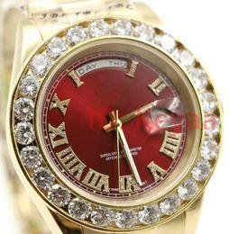 Montre homme diamant 18k en Ligne-Diamants montres A2813 Mode 18K mens Président Day-Date montre en diamant hommes automatique Mouvement saphir Dseigner Mécanique Montres-bracelets