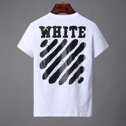 Beso camisetas online-19ss kiss men T-SHIRT de manga corta camiseta Temperatura estampados de rayas traseros para hombre tops camisetas blancas para mujeres 24