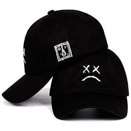 Lil Peep chapéu Pai Triste Menino Chorando Rosto Pai Chapéu Boné de Beisebol de Algodão Bordado Ao Ar Livre Causal Cap Hip Hop Snapback Hat de