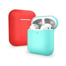 2019 auricular bluetooth inalámbrico rosa Auricular de la cubierta portátil para AirPods 2 de silicona Headset Auricular Caja protectora de la cubierta para el AirPods segunda generación de auriculares Auriculares