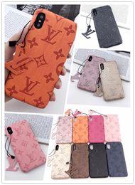 2019 imitazione iphone casi all'ingrosso Custodia in pelle di lusso per iPhone 11 Pro Max X Xs Xr 8 7plus Samsung Note10 plus S10 5G S9 S8 Note8 9 Custodia posteriore per designer di moda
