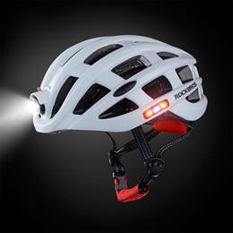 caverna de bicicleta Desconto Capacete de Equitação Chapéu de Segurança com Carregamento LED Luzes Traseiras para Mountain Bike Bicicleta Esporte Extremo Cabeça LED Capacete Da Bicicleta Ciclismo