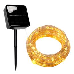 2019 fil étoile rouge Guirlande LED lumière solaire extérieur fil de cuivre Guirlande Led Strip lampe étanche mariage de Noël pour jardin Décor