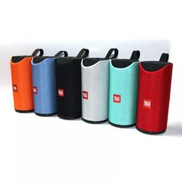 Bluetooth динамик Tg113 ткань Bluetooth музыкальный плеер колонки колонки колонки открытый водонепроницаемый карты аудио двойной динамик сабвуфер от Поставщики звуковые усилители