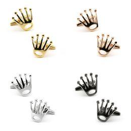 gemelli in oro bianco per gli uomini Sconti 2020 gioielli di lusso degli uomini regalo Argento Corona gemelli di alta qualità da sposa gemello Gemelli Donne Moda creativa 4 colori O41FA