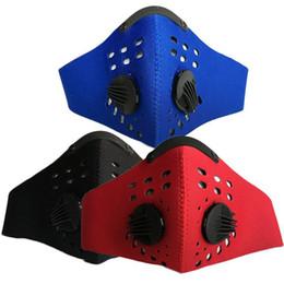 bufanda del airsoft Rebajas Ejercicio al aire libre Ciclismo de montaña máscara facial máscara de carbón activado máscara pm2.5 anti-smog mantener caliente y resistente al polvo