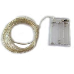 Rgb led flasher en Ligne-10M 100LED 3XAA batterie LED guirlande lumineuse pour la fête de Noël guirlande décoration de mariage noël clignotant guirlandes