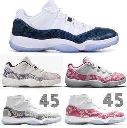 2019 low cut sneakers für frauen Neue 11 Low Navy Blau Rosa Light Bone Snakeskin Basketball Schuhe Männer Frauen 11 s Prem HC High 45 Snakeskin Sport Turnschuhe Mit Box rabatt low cut sneakers für frauen