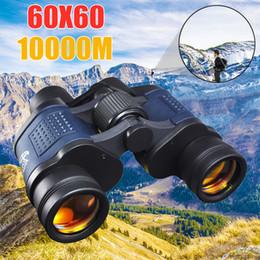 Binóculos ao ar livre on-line-Telescópio Binóculos 60X60 HD Alta Claridade 10000 M de Alta Potência Para A Caça Ao Ar Livre Ligh Óptica Visão Noturna binocular Zoom Fixo