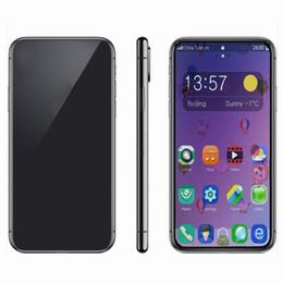 2019 mtk telefono cellulare sim Cellulari Goophone XS MAX da 6,5 pollici quad core da 1 GB 4GB MTk6580 smartphone con display ID Mostra da 4 GB / 512 GB display da 4g lte sbloccato