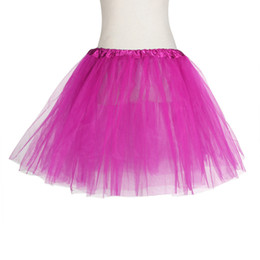 novos modelos de vestido para meninas Desconto 2019 verão nova venda quente modelos femininos Natural 1 PC Saia Bonita Menina Elástico Elástico Vestido de Tule Adulto Tutu 3 Camada Saia