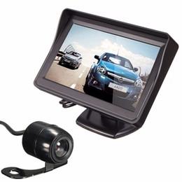 n vidéos Promotion Moniteur de vue arrière de voiture de définition élevée d'écran de 4.3 Tft avec le câble visuel avec un support réglable et un autocollant fixable #N