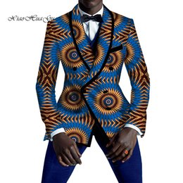 Causal Africain Hommes Vêtements Party Wedding Business Imprimé Blazer 100% Coton De Mode Costumes Slim Blazer Dashiki WYN528 ? partir de fabricateur