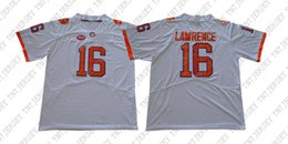 b81bfe777 Cheap custom Trevor Lawrence Jersey 16 Clemson Tigers Jersey Football jersey  White Stitched Customize any number name MEN WOMEN YOUTH XS-5XL