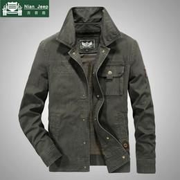 Plus Size New Spring rivestimento degli uomini di alta qualità cotone casuale Outwear Marca AFS JEEP Mens Jackets Windbreaker Bomber M 6XL LY191209