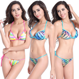 2019 mini brasilianische badebekleidung Extreme Bikini frauen Sexy Micro Mini Bikini Set Tanga Bottom Badeanzug Brazilian Bikini Bademode S-32 rabatt mini brasilianische badebekleidung