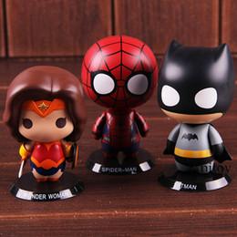 figura de mujer araña Rebajas Superhéroes Marvel DC Comics Figura de acción Batman Wonder Woman Spiderman Spiderman Toys PVC Modelo de colección de juguete