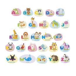 стикеры для писем с животными Скидка Наклейки ABC - наклейки на алфавит - наклейки на стены с алфавитом животных - наклейки на классные комнаты - наклейки на буквы для детей