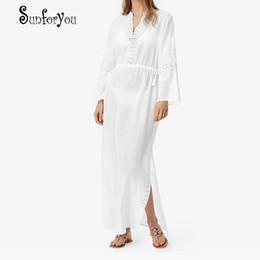 08bd4a072b Cotton Beach Dress Saida de Praia Sarong Lace Beach Cover up Swimsuit Women  Bikini Cover up Swimsuit Tunics